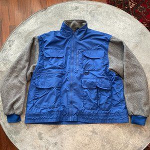 Vintage Trailmaster Fleece Nylon Bomber Jacket
